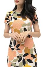 Đầm công sở ôm body họa tiết hoa