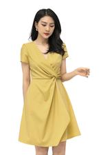 Đầm công sở wrap dress nhấn eo