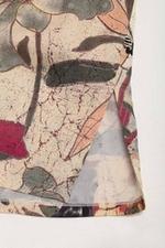 Đầm họa tiết tay lỡ cổ vuông