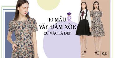 """10 mẫu váy đầm xòe cứ mặc là """"auto"""" đẹp"""