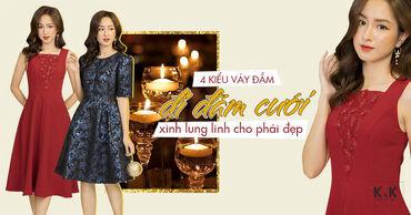 4 Kiểu váy đầm đi đám cưới xinh lung linh cho phái đẹp