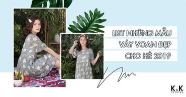 List những mẫu váy voan đẹp cho mùa hè 2019