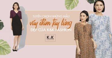 Tuyển chọn những mẫu váy đầm tay lửng đẹp của K&K Fashion