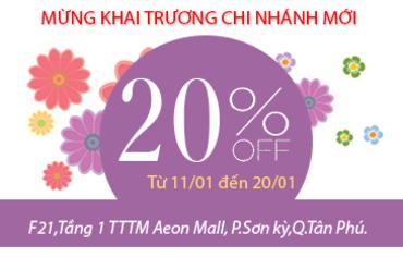 Thời trang công sở K&K Fashion giảm giá 20% tại gian hàng AEON Tân Phú