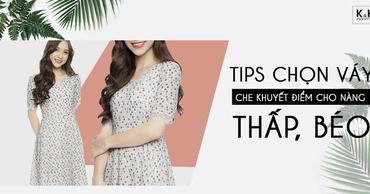 Tips chọn váy che khuyết điểm cho nàng thấp, béo