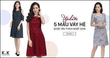 Update 5 mẫu váy hè được yêu thích nhất 2019