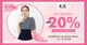 K&K Fashion giảm giá 20% nhân dịp Reopening showroom 664 Quang Trung