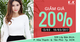 K&K Fashion Tân Phú giảm giá 20% nhân dịp khai trương